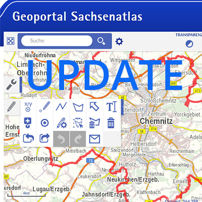 Screenshot Geoportal Sachsenatlas